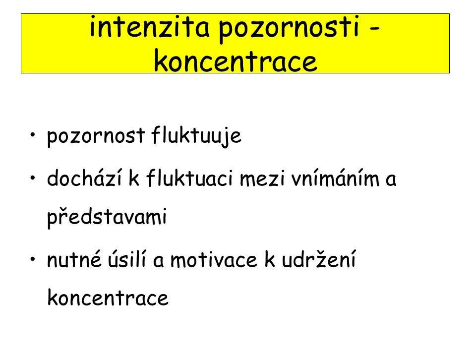 intenzita pozornosti - koncentrace
