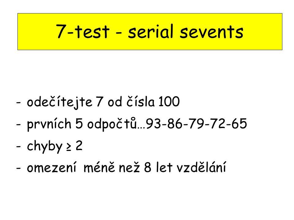 7-test - serial sevents odečítejte 7 od čísla 100