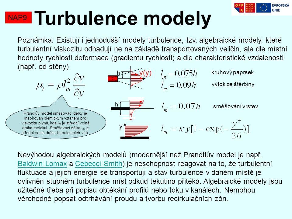 Turbulence modely NAP9.