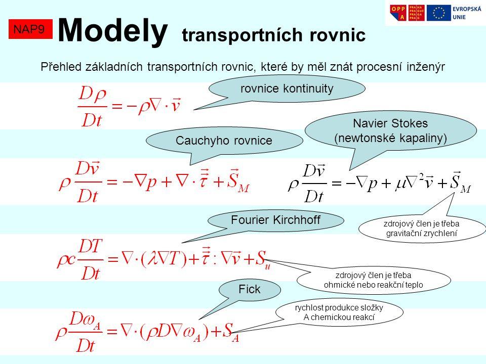 Modely transportních rovnic