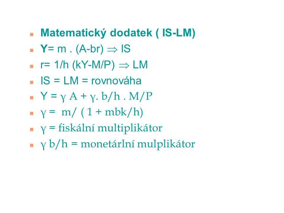 Matematický dodatek ( IS-LM)