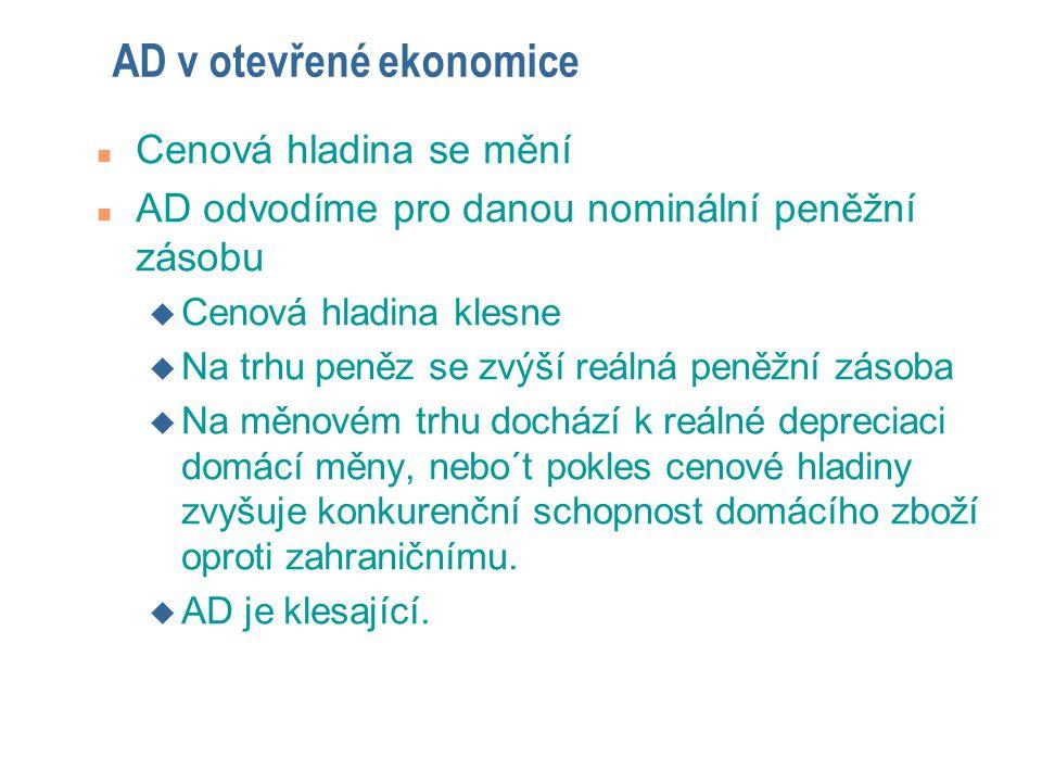 AD v otevřené ekonomice