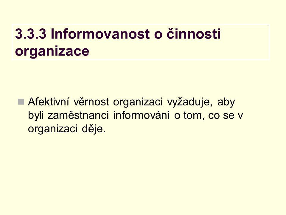 3.3.3 Informovanost o činnosti organizace
