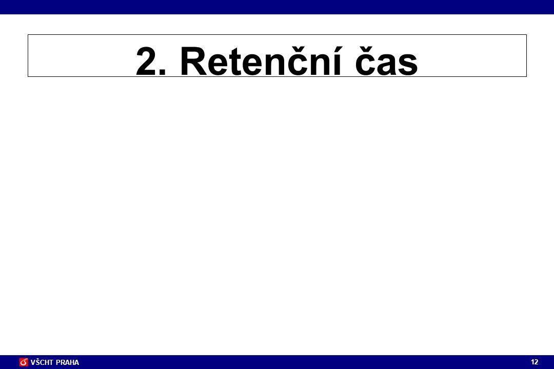 2. Retenční čas