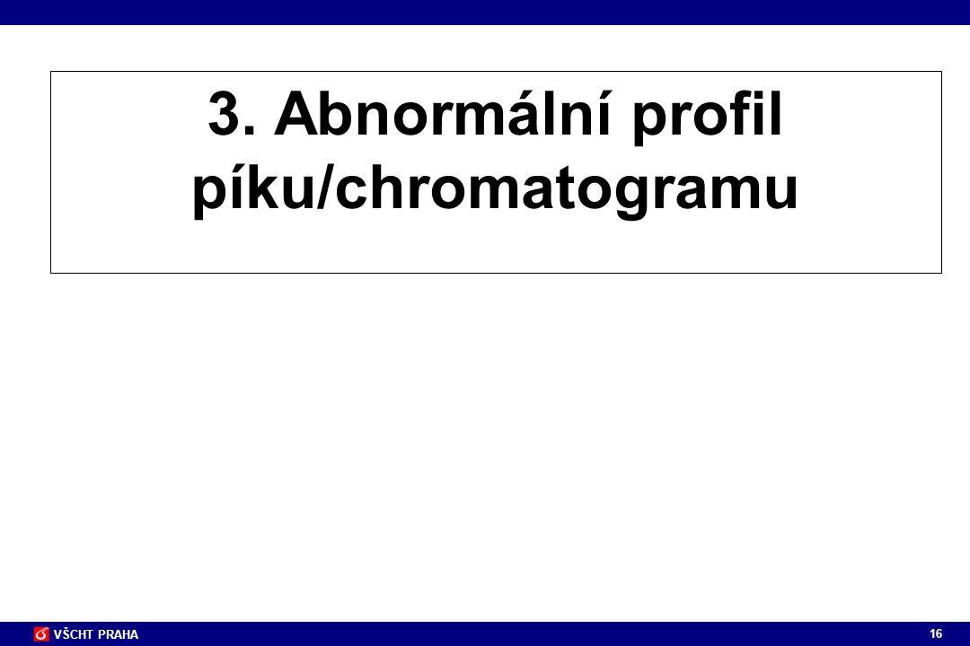 3. Abnormální profil píku/chromatogramu