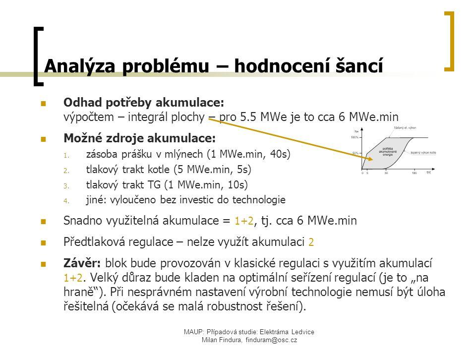 Analýza problému – hodnocení šancí