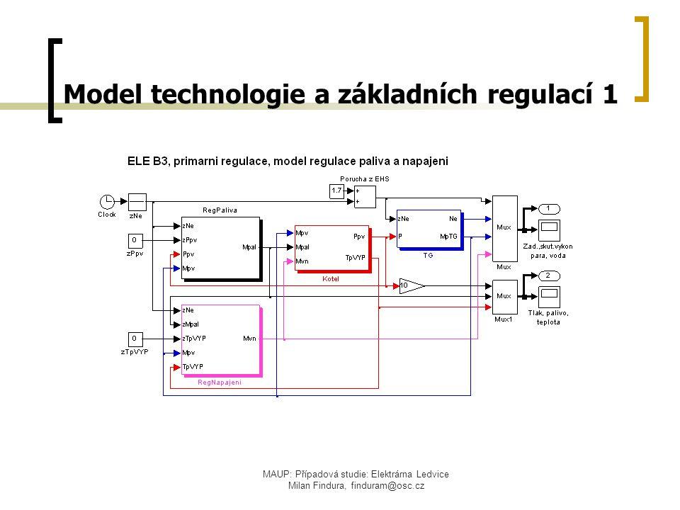 Model technologie a základních regulací 1