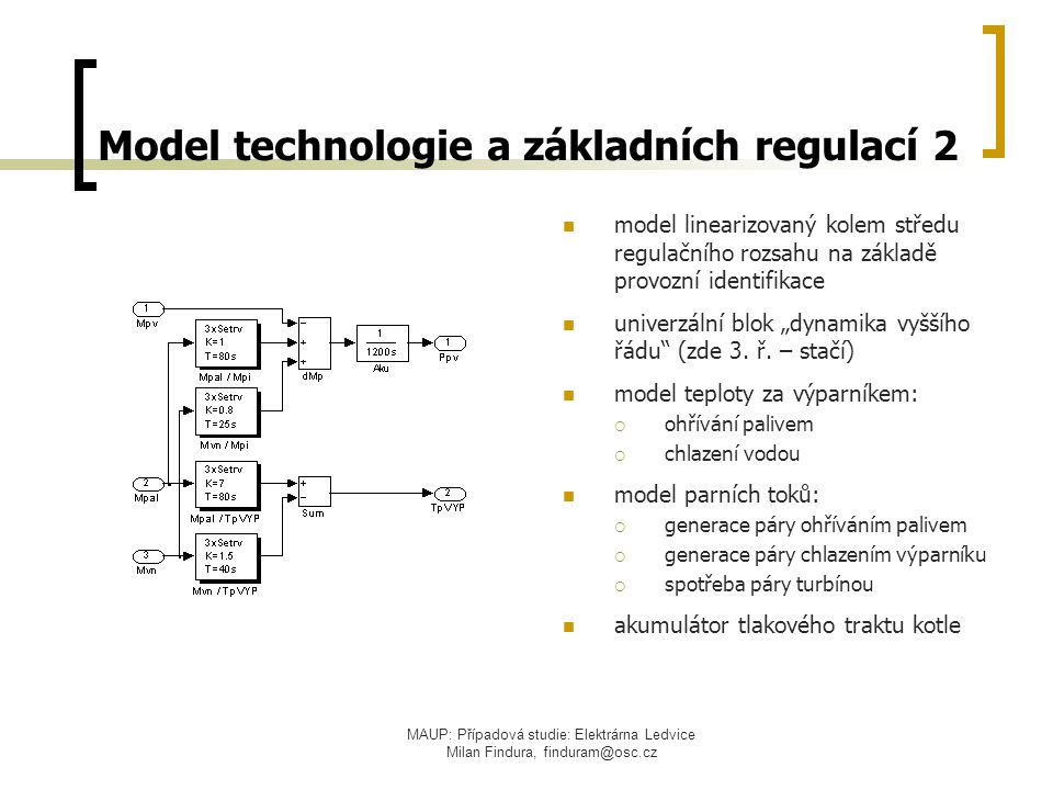 Model technologie a základních regulací 2
