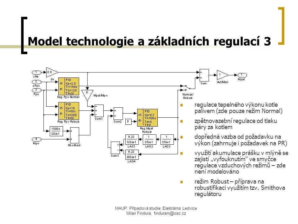 Model technologie a základních regulací 3