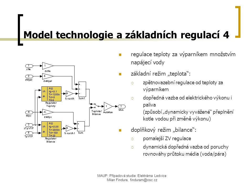 Model technologie a základních regulací 4
