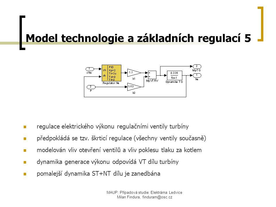 Model technologie a základních regulací 5
