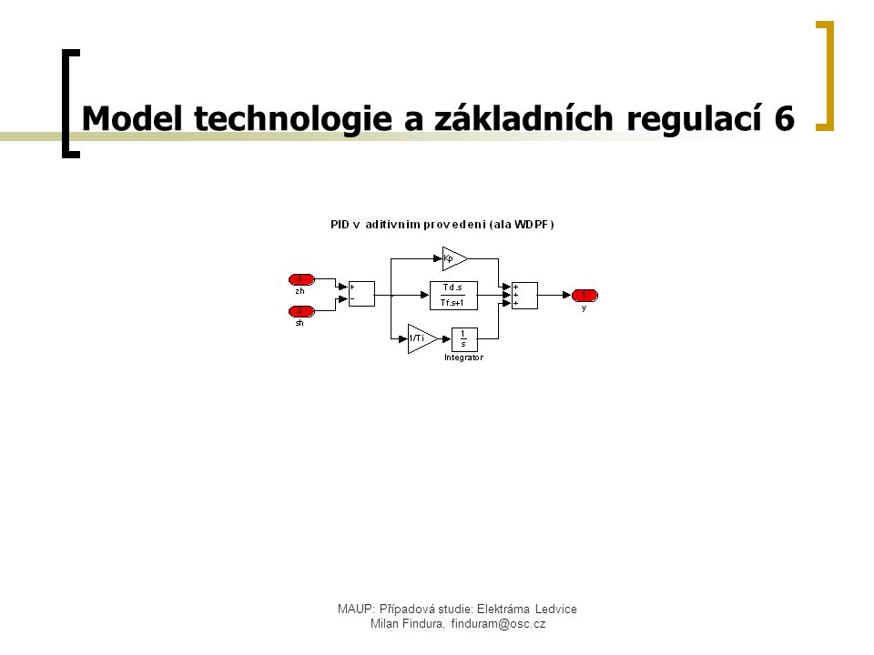 Model technologie a základních regulací 6