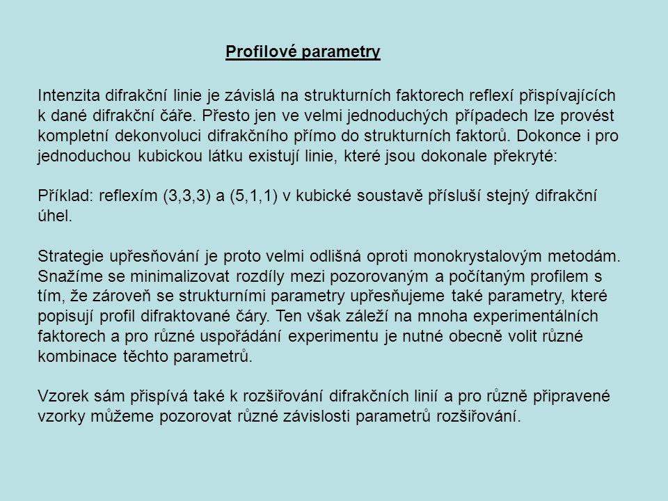 Profilové parametry
