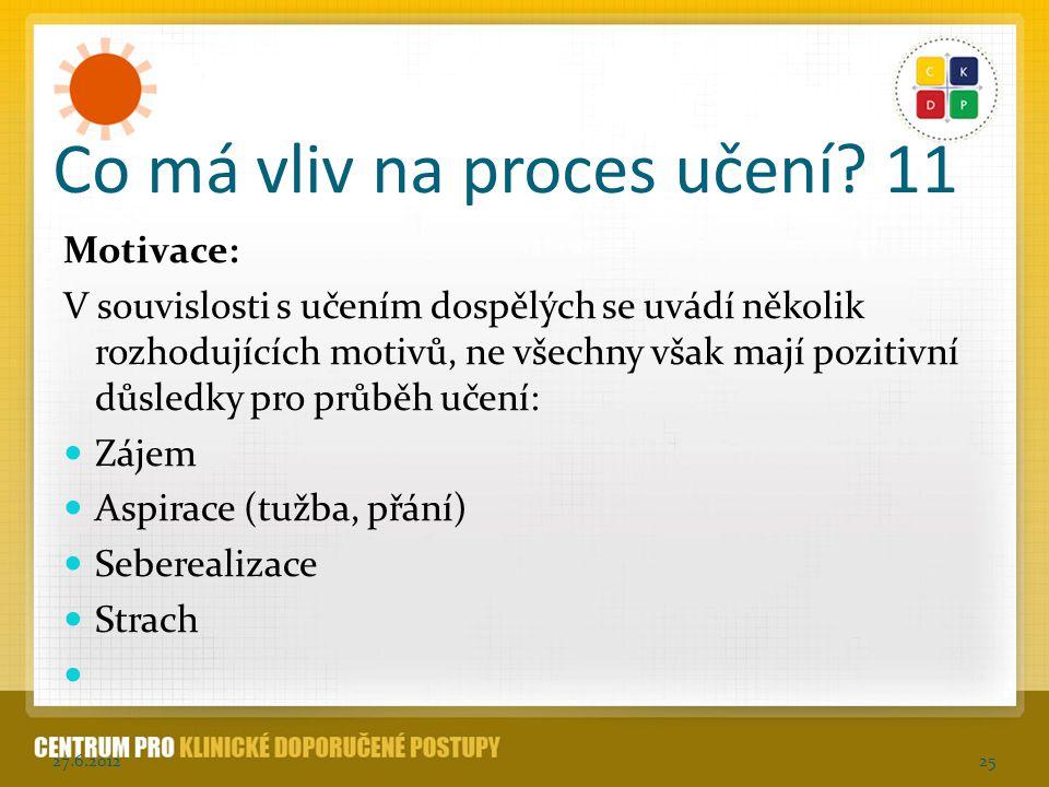 Co má vliv na proces učení 11