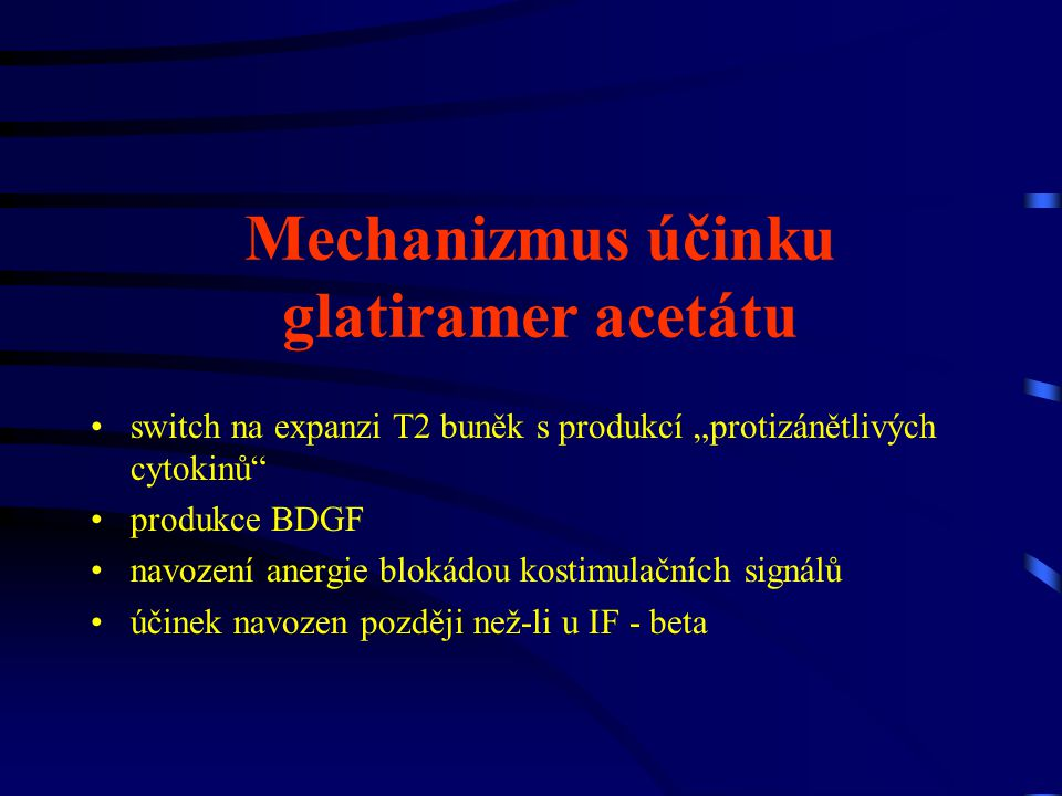 Mechanizmus účinku glatiramer acetátu