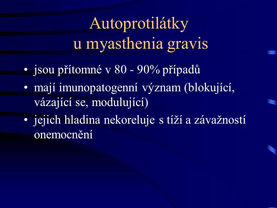 Autoprotilátky u myasthenia gravis