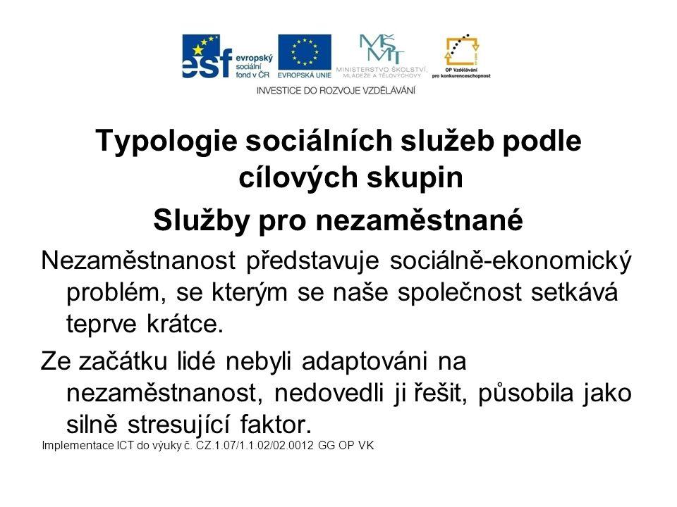 Typologie sociálních služeb podle cílových skupin