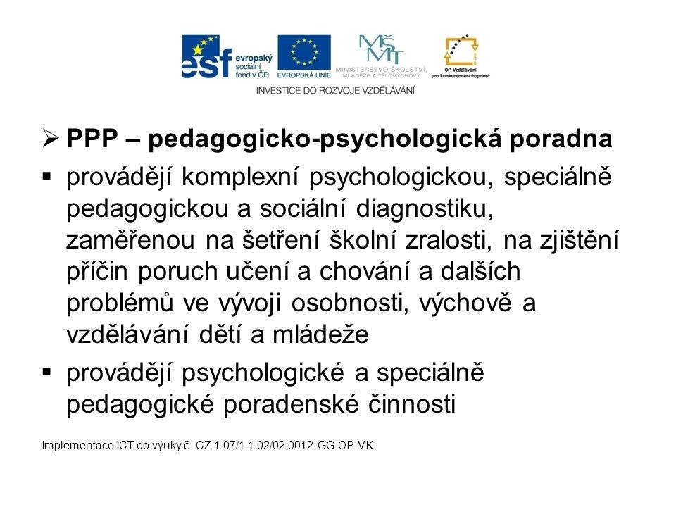 PPP – pedagogicko-psychologická poradna