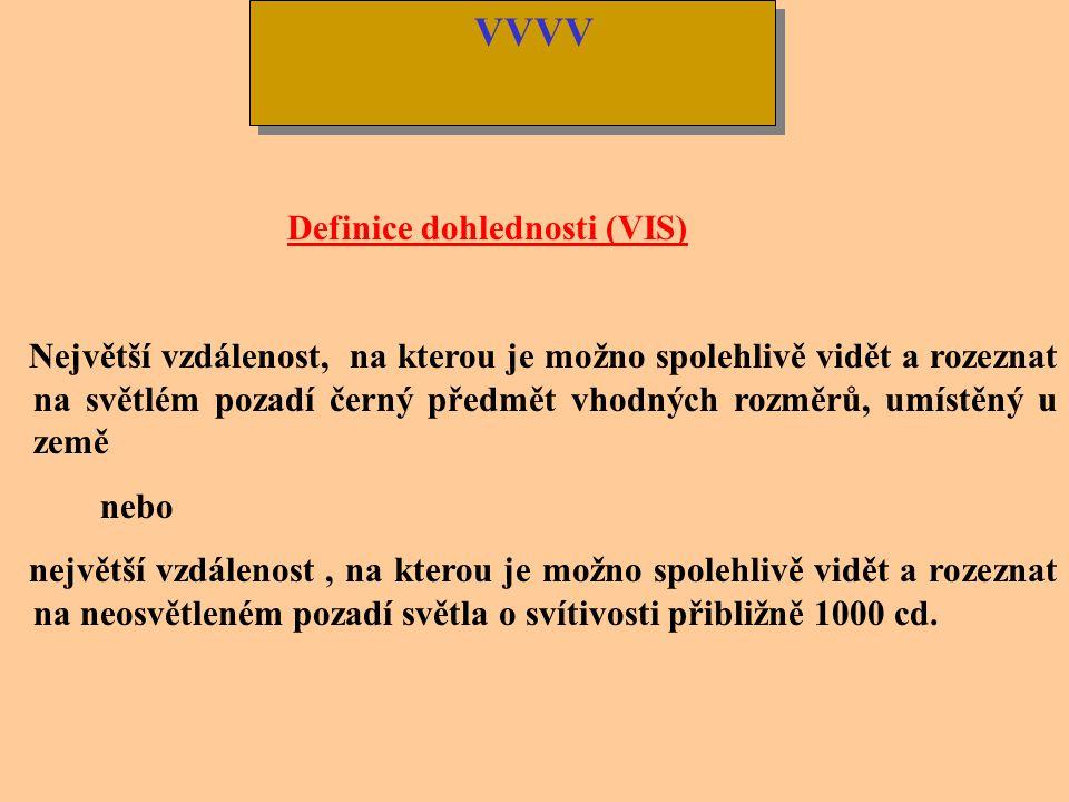 VVVV Definice dohlednosti (VIS)