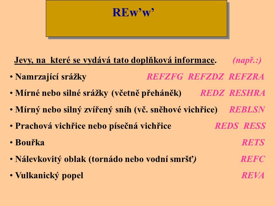 REw'w' Jevy, na které se vydává tato doplňková informace. (např.:)