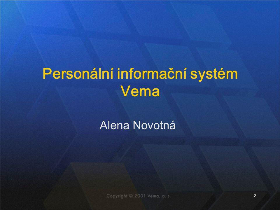 Personální informační systém Vema
