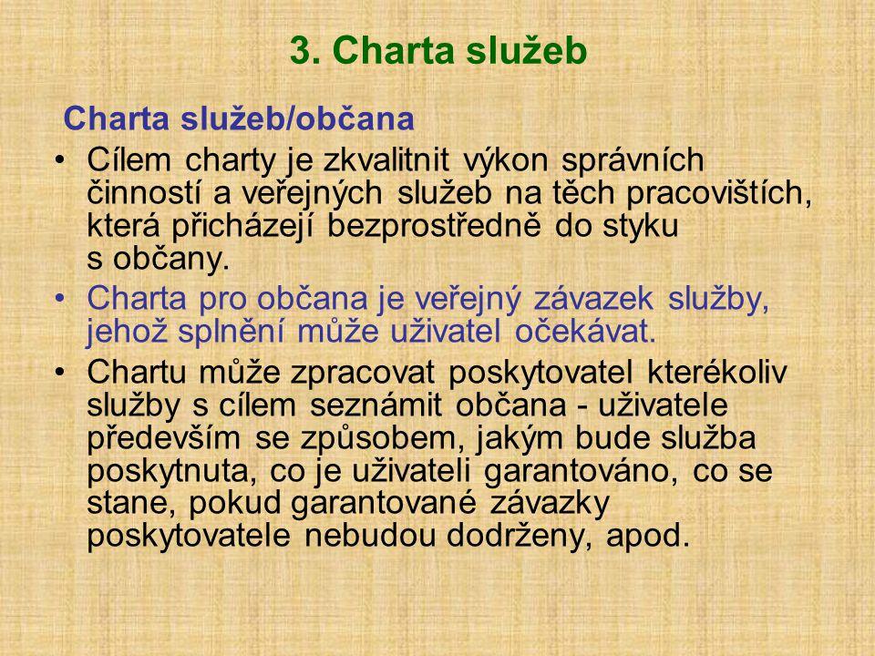 3. Charta služeb Charta služeb/občana