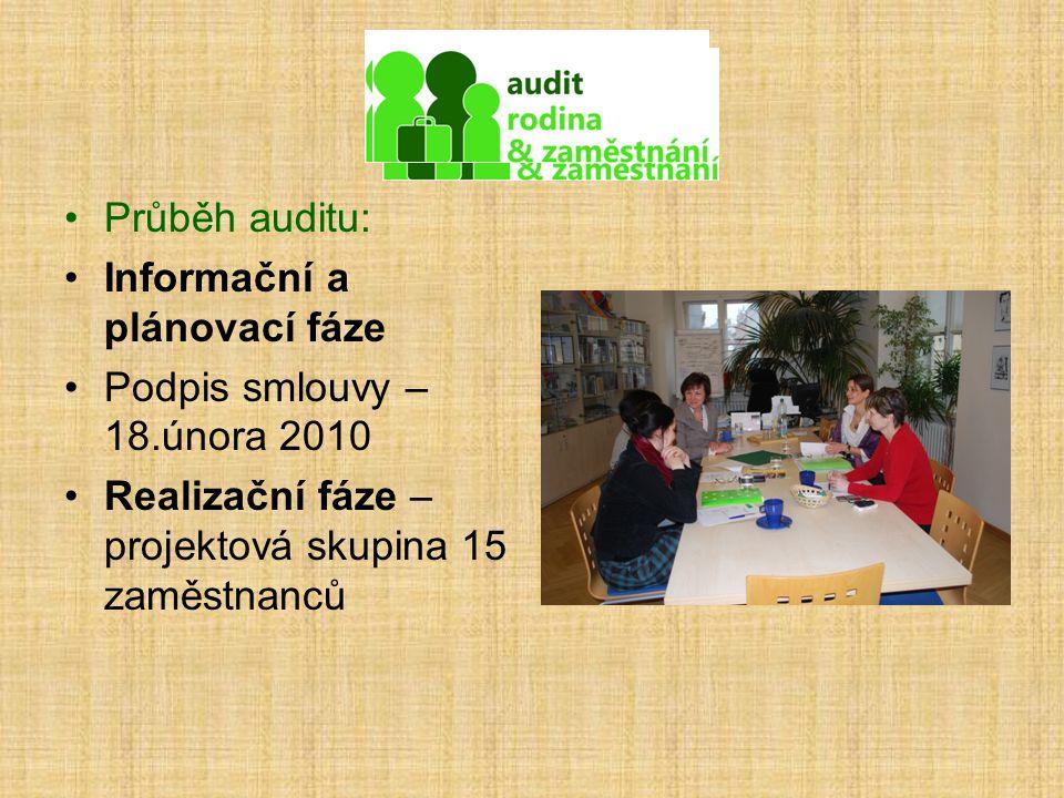 Průběh auditu: Informační a plánovací fáze. Podpis smlouvy – 18.února 2010.