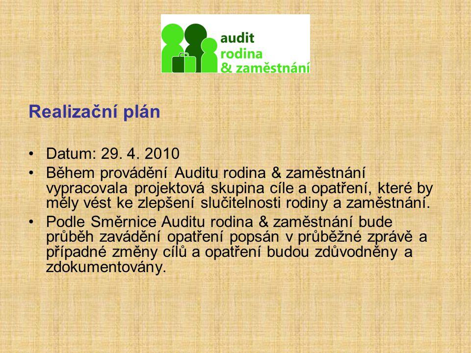 Realizační plán Datum: 29. 4. 2010