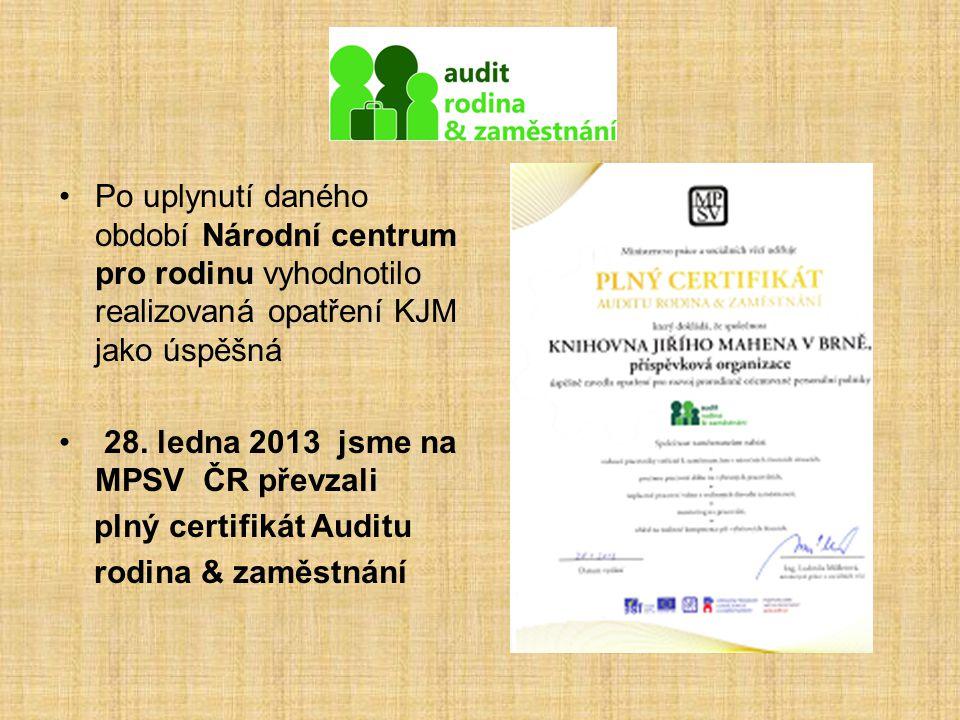 Po uplynutí daného období Národní centrum pro rodinu vyhodnotilo realizovaná opatření KJM jako úspěšná