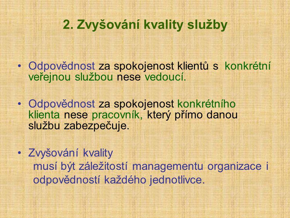 2. Zvyšování kvality služby