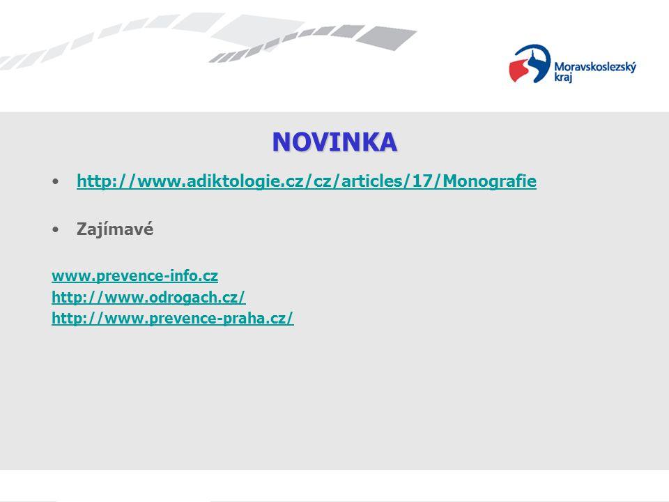 NOVINKA http://www.adiktologie.cz/cz/articles/17/Monografie Zajímavé