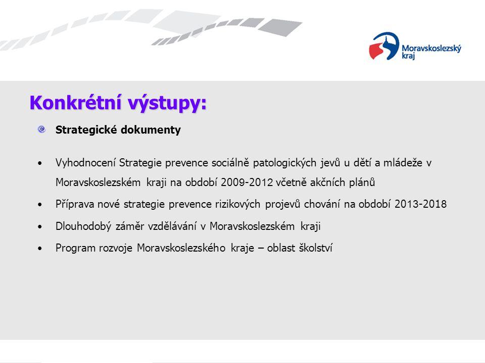 Konkrétní výstupy: Strategické dokumenty