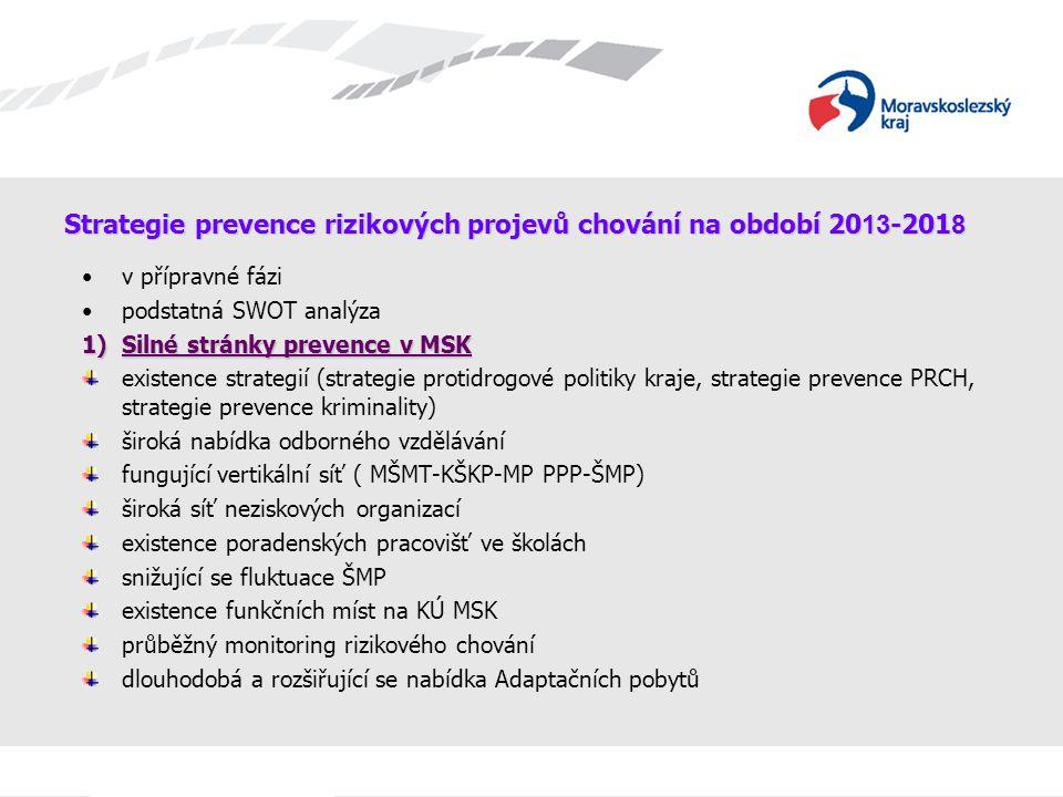 Strategie prevence rizikových projevů chování na období 2013-2018