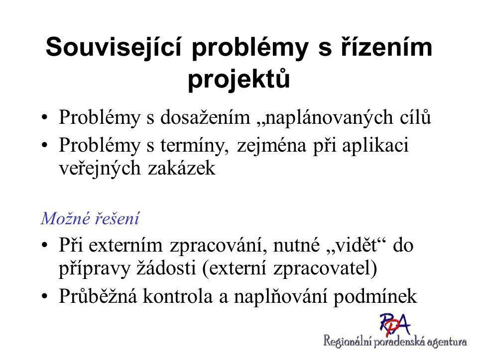 Související problémy s řízením projektů