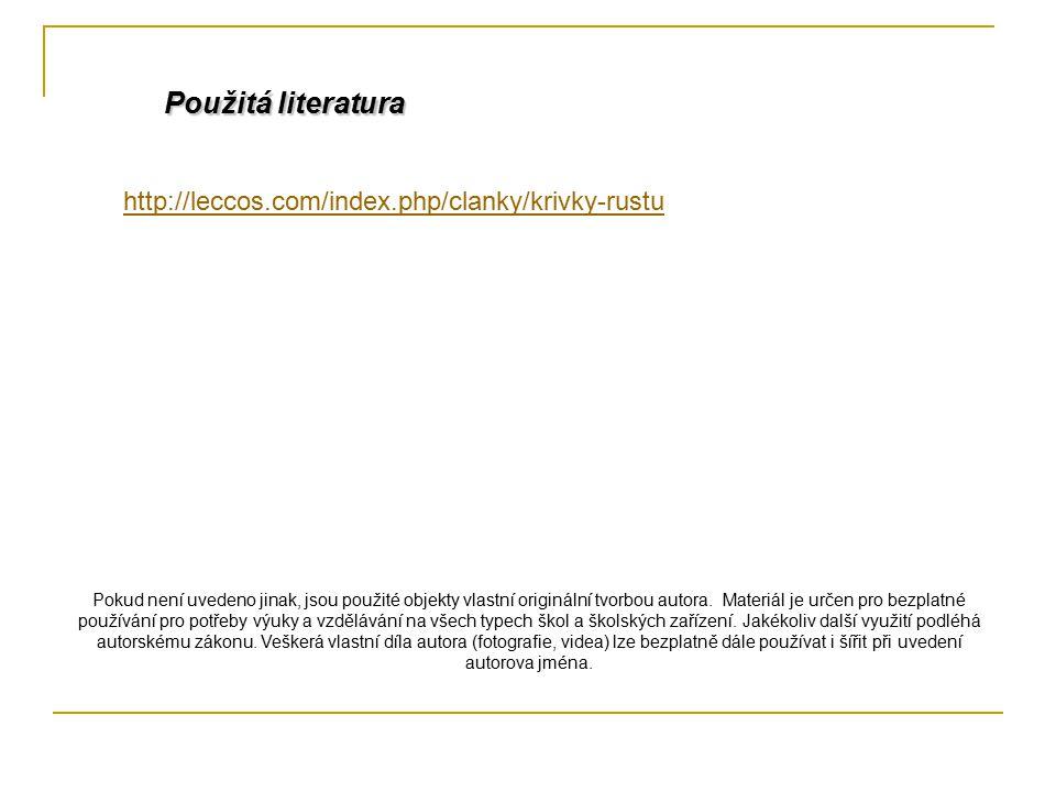 Použitá literatura http://leccos.com/index.php/clanky/krivky-rustu