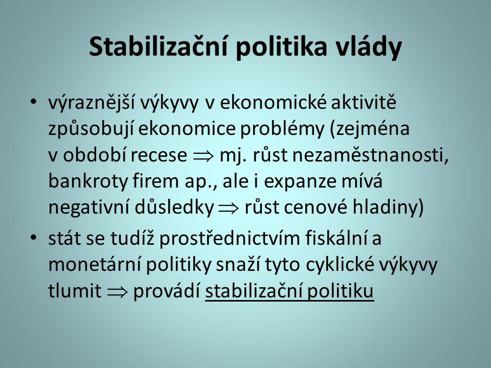 Stabilizační politika vlády