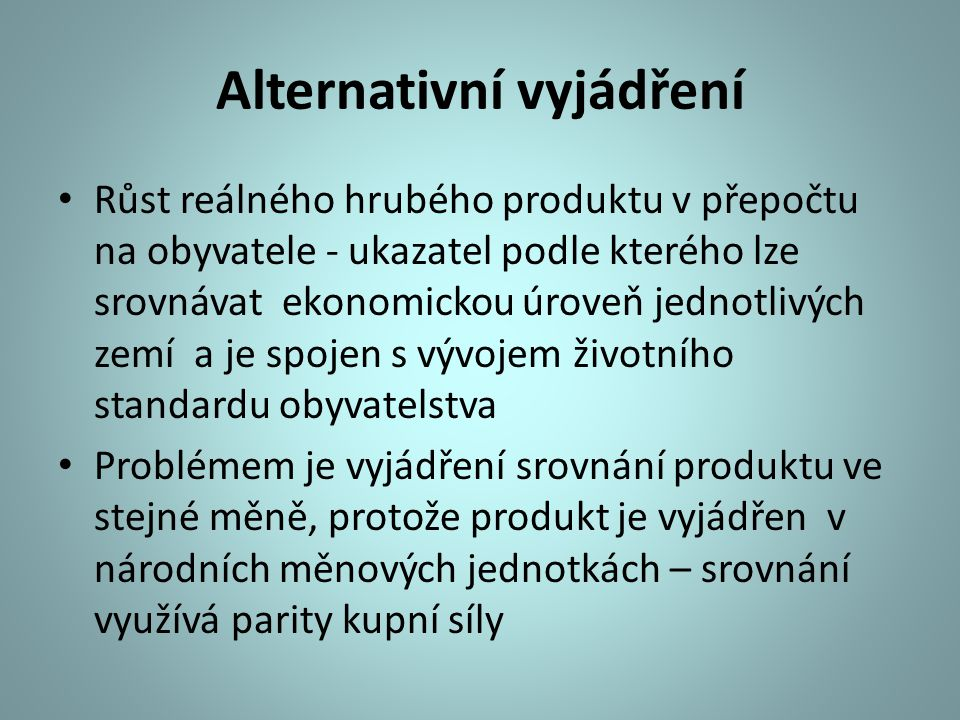 Alternativní vyjádření