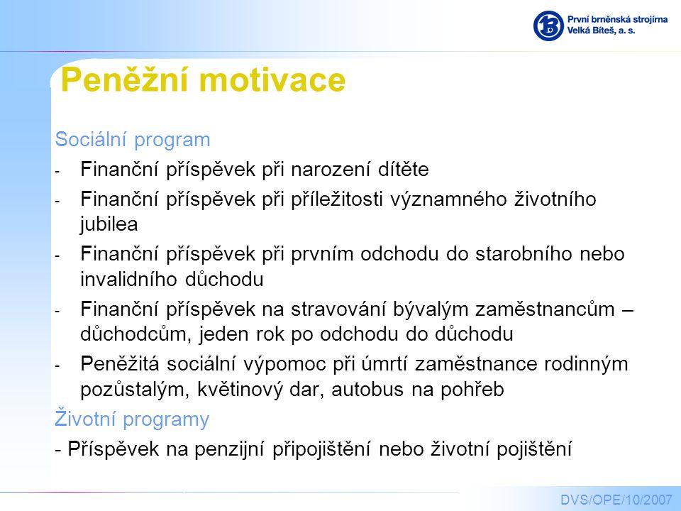 Peněžní motivace Sociální program