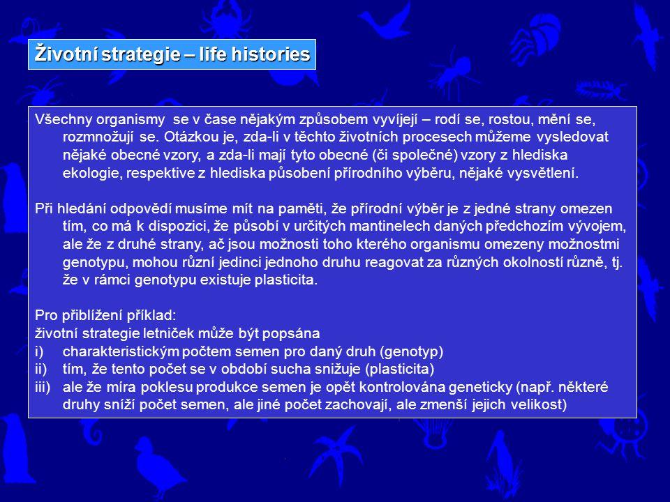 Životní strategie – life histories