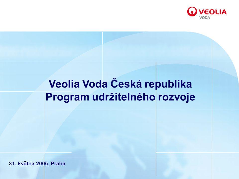 Veolia Voda Česká republika Program udržitelného rozvoje