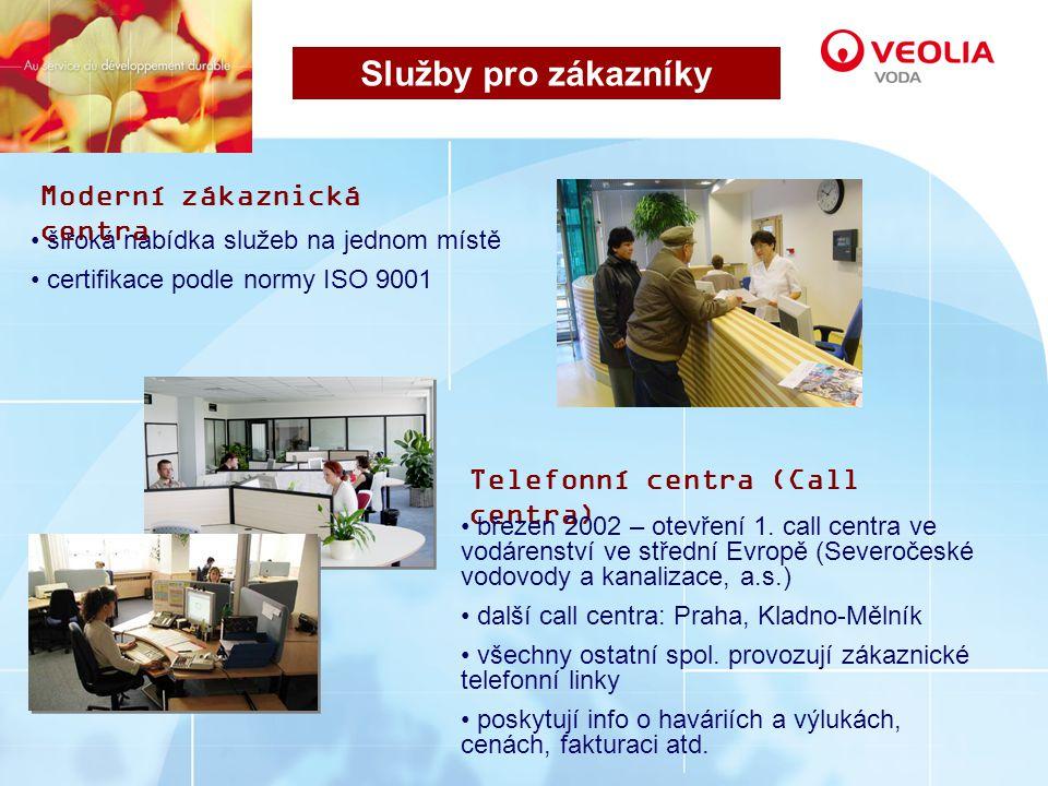 Služby pro zákazníky Moderní zákaznická centra
