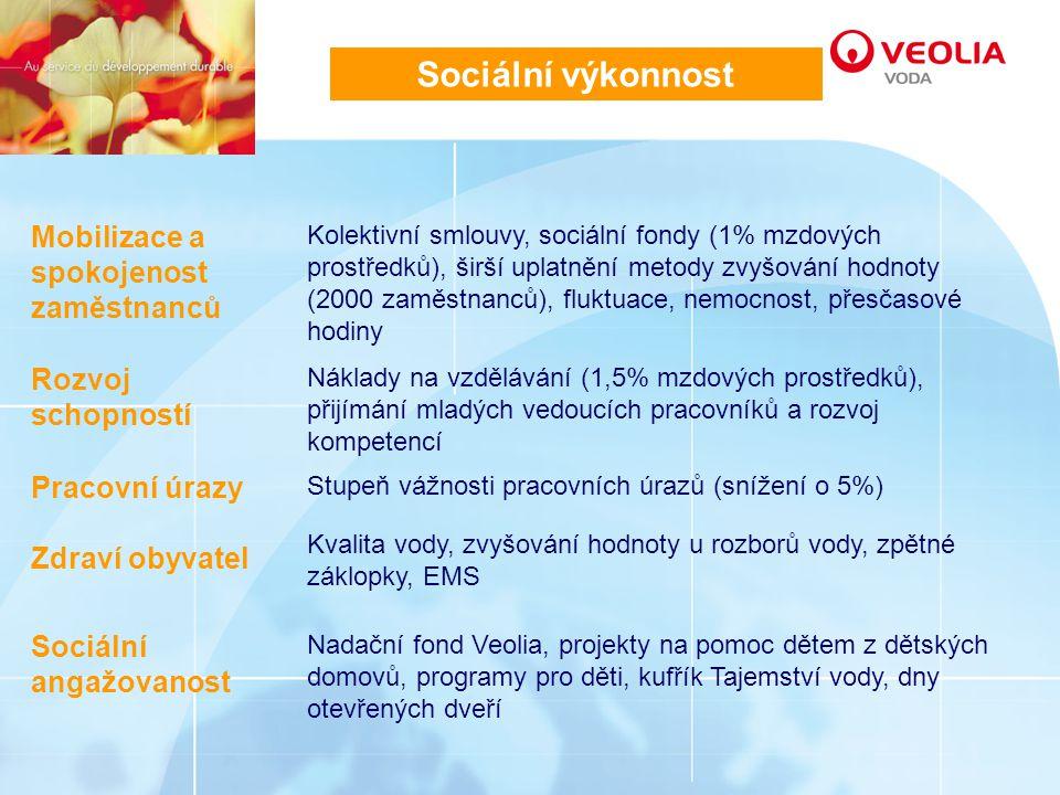 Sociální výkonnost Mobilizace a spokojenost zaměstnanců