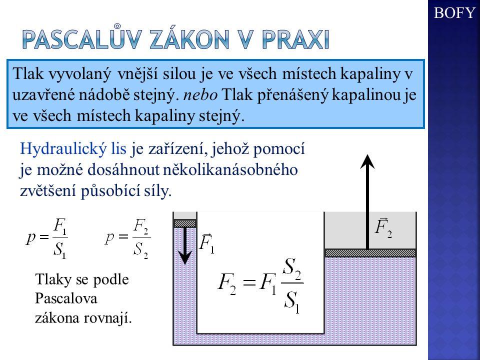 BOFY Pascalův zákon v praxi.