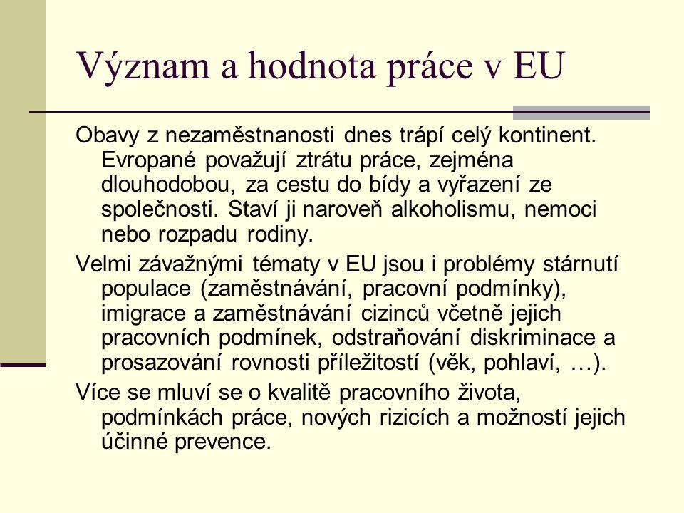 Význam a hodnota práce v EU
