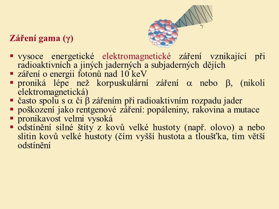 Záření gama (γ) vysoce energetické elektromagnetické záření vznikající při radioaktivních a jiných jaderných a subjaderných dějích.