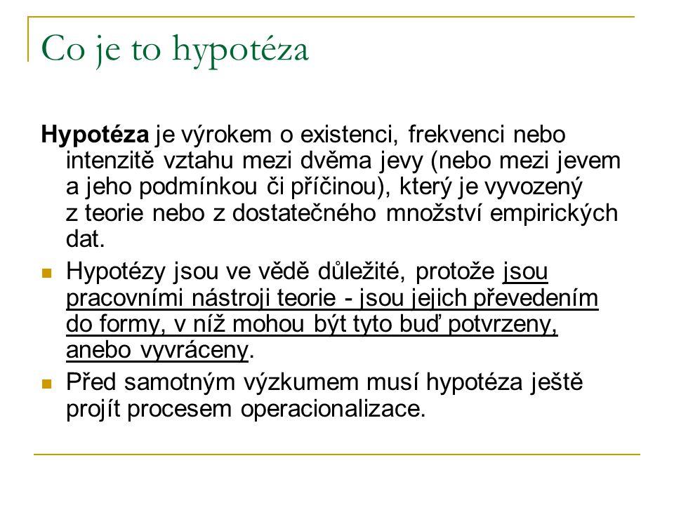 Co je to hypotéza