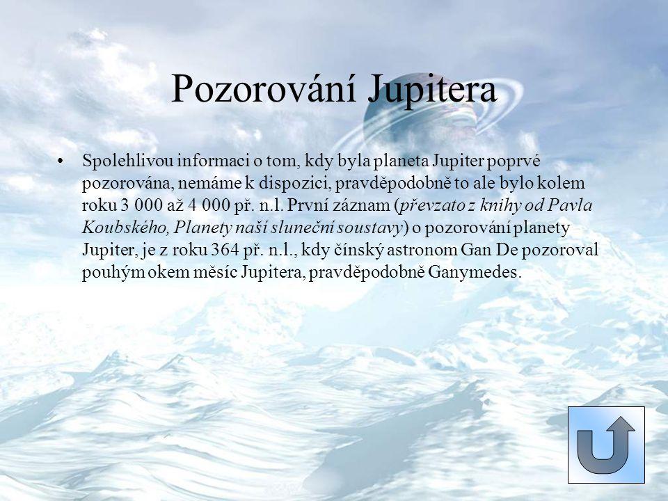 Pozorování Jupitera