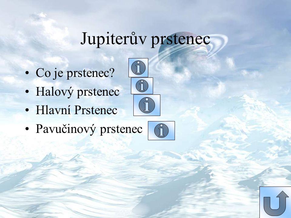 Jupiterův prstenec Co je prstenec Halový prstenec Hlavní Prstenec