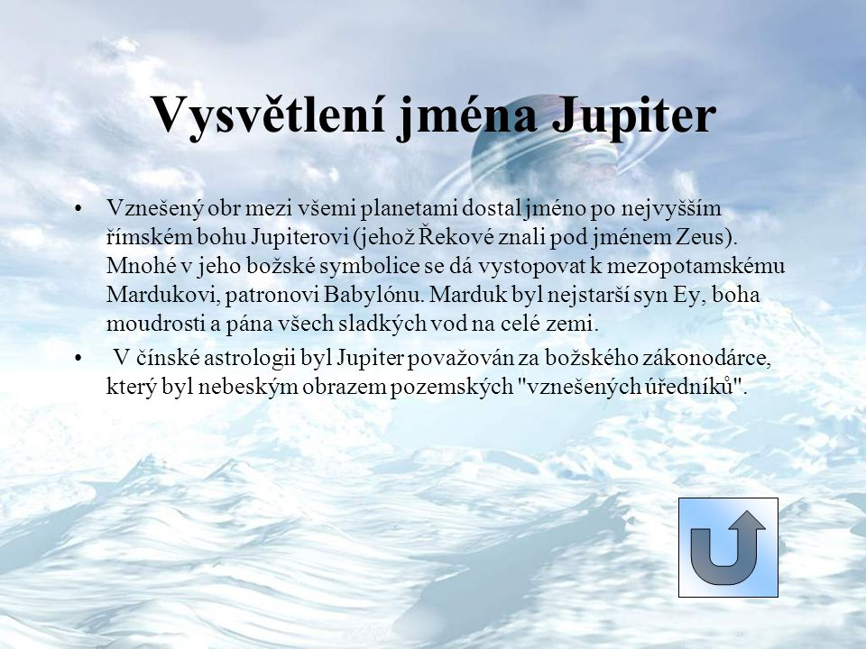 Vysvětlení jména Jupiter
