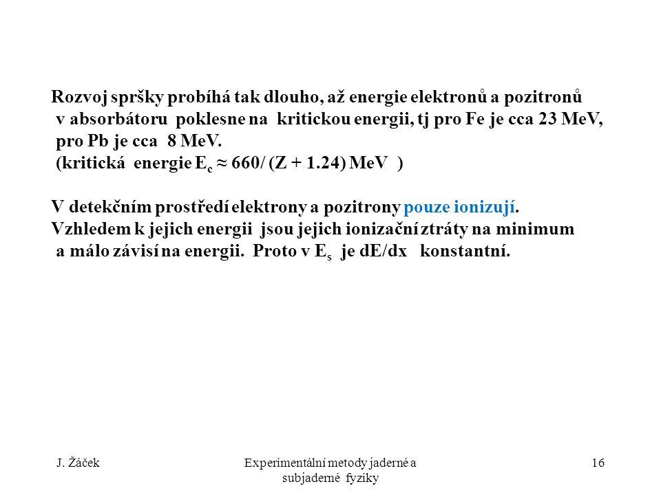 Experimentální metody jaderné a subjaderné fyziky